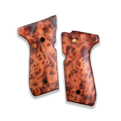 Beretta 92FS Model Compatible Thuya Burl Grip for Replacement