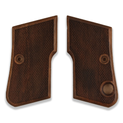 Beretta 950 Jetfire Model Compatible Walnut Grip for Replacement (with Diamond Checkered Pattern)