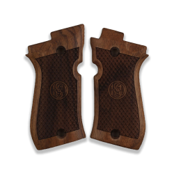 Beretta Cheetah 81 81BB 81F 81FS 84 84BB 84F 84FS Compatible Walnut Grip for Replacement (Python Pattern and Relief)