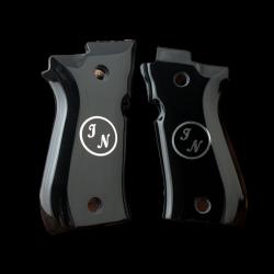 Beretta Cheetah 81 81BB 81F 81FS 84 84BB 84F 84FS Model Compatible Black Acrylic Grip for Replacement (with Custom Initials)