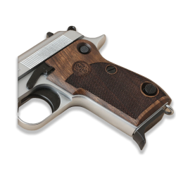 Beretta M1951 Model Compatible Walnut Grip for Replacement (with Diamond Checkered Pattern & Logo Relief)