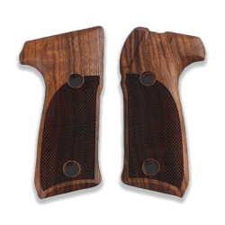 Astra A90 Model Compatible Walnut Grip for Replacement with Diamond Checkered Pattern