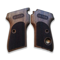 Bersa Compatible Walnut Grip for Replacement (with Diamond Checkered Pattern)