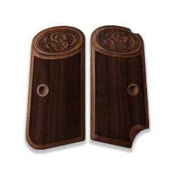 Browning FN 1903 model Compatible Walnut Grip for Replacement with Diamond Checkered Pattern