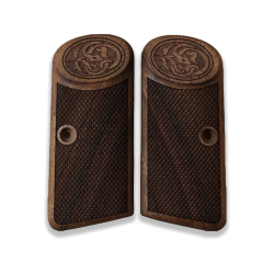 Browning FN 1910 1955 model Compatible Walnut Grip for Replacement with Diamond Checkered Pattern