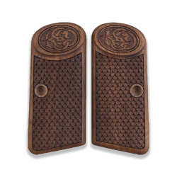 Browning FN 1910 1955 Model Compatible Walnut Grip for Replacement with Python Pattern