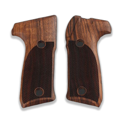 Astra A900 Model Compatible Walnut Grip for Replacement with Diamond Checkered Pattern