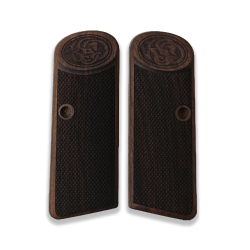 Browning FN 1922 Model Compatible Walnut Grip for Replacement with Diamond Checkered Pattern