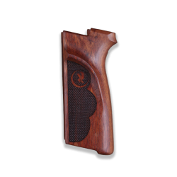 Browning FN HP-DAO / BDAO Model Compatible Rosewood Grip for Replacement (with Diamond Checkered Pattern)
