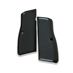 Browning HP Model Compatible Black Acrylic Grip for Relacement (with Diamond Checkered Pattern)