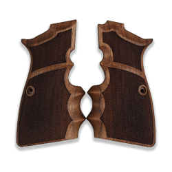 Browning HP High Power model Compatible Walnut Grip for Replacement with Diamond Checkered Pattern