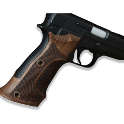 Browning HP High Power Model Compatible Walnut Target Grip for Replacement with Half Pattern