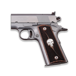 Colt / Other 1911's Model Compatible Full Size Walnut, Silver Grip for Replacement
