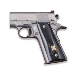 Colt / Other 1911's Model Compatible Full Size Black Acrylic, Brass Grip for Replacement