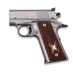 Colt / Other 1911's Full Size Model Compatible Walnut, Silver Grip for Replacement