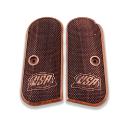 Colt 1903 / 1908 Hammerless Model Compatible Walnut Grip for Replacement with Diamond Checkered Pattern