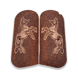 Colt 1903 / 1908 Hammerless Model Compatible Walnut Grip for Replacement, with Horse Figure
