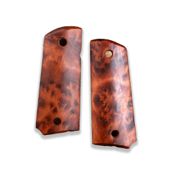 Colt 1911 Compact Officer Model Compatible Exotic Thuya Burl Grip for Replacement