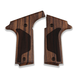 Colt Double Eagle Model Compatible Walnut Grip for Replacement, with Diamond Checkered Pattern
