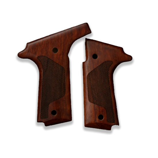 Colt Double Eagle Model Compatible Rosewood Grip for Replacement, with Diamond Checkered