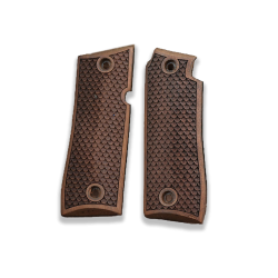 Colt Goverment 380 / Mustang Plus II Model Compatible Walnut Grip for Replacement, with Python Pattern