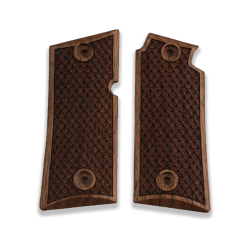 Colt Mustang Pocketlite Model Compatible Walnut Grip for Replacement, with Python Pattern