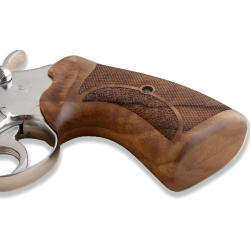 Colt Python / Officer Model Compatible Walnut Grip for Replacement, with Half Pattern
