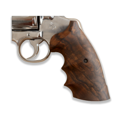 Colt Python / Officer Model Compatible Walnut Grip for Replacement