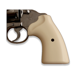 Colt Python / Officer Model Compatible Ivorly Acrylic Grip for Replacement