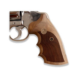 Colt Python / Officer Model Match (Your Name and Last Name First Letter)  Model Compatible Walnut, Brass