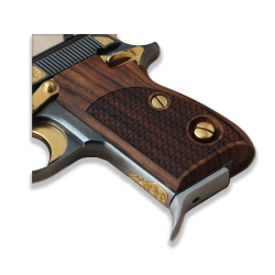 Beretta 70 70S 71 Puma models Compatible Walnut Grips for Replacement with Python Pattern (Thumb style safety)