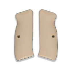 CZ 75 85 Model Compatible Ivory Acrylic Grip for Replacement