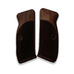 CZ 75 / 85 Model Compatible Walnut Grip for Replacement (wth Diamond Checkered Pattern)