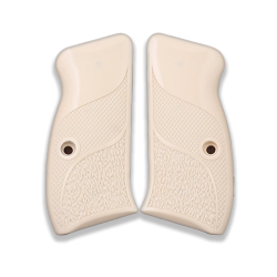 CZ 75 Compact / P01 / 40P Model Compatible Ivory Acrylic Grip for Replacement