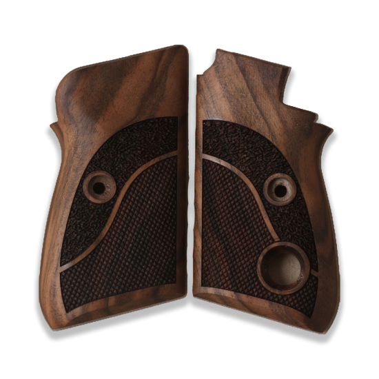 Beretta 70 70S 71 Puma models Compatible Walnut Grip for Replacement with Half Pattern (Thumb style safety)