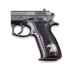 CZ 75B / 85B Model Compatible Black Acrylic Grip for Replacement (with Silver Eagle Logo)