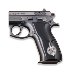 CZ 75B / 85B Model Compatible Black Acrylic Grip for Replacement (with Silver Figure)