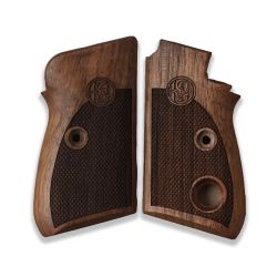 Beretta 70 70S 71 Puma Compatible Walnut Grips for Replacement (Thumb style safety)