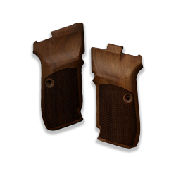 CZ 82 83 Model Compatible Walnut Grip for Replacement (with Thumb Grip & Diamond Checkered Pattern)
