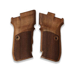 CZ 82 83 Model Compatible Walnut Grip for Replacement (with Python Pattern)