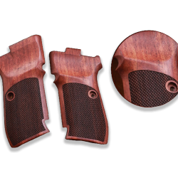 CZ 82 83 Rosewood Compatible Walnut Grip for Replacement (with Diamond Checkered Pattern)
