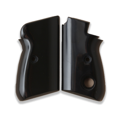 Beretta 70 70S 71 Puma models Compatible Black Acrylic Grip for replacement (Thumb style safety)