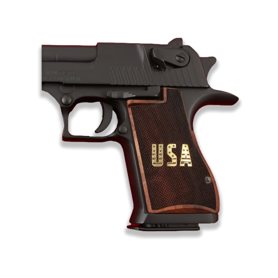 Desert Eagle Model Compatible Walnut, Brass Grip for Replacement