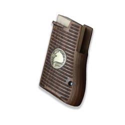 Desert Eagle Compatible Walnut Grip for Replacement (with Silver Logo)