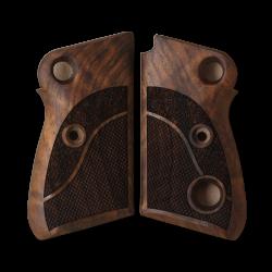 Beretta 71 72 75 Jaguar Grip (Crossbolt safety) Model Compatible Walnut Grip for Replacement, with Half Pattern