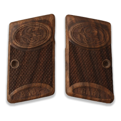 Browning Baby 1905 1906 Model Compatible Walnut Grip for Replacement (with Diamond Checkered Pattern)