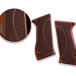 Jericho .45 ACP Model Compatible Rosewood Grip for Replacement (with Half Pattern)