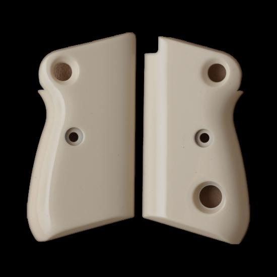 Beretta 71 72 75 Jaguar Grip (Crossbolt safety) Model Compatible Ivory Acrylic Grip for Replacement