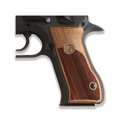 Jericho 941 F FS Baby Eagle model Compatible Walnut Grip for Replacement (Custom order for Name First Letter) (9mm and .41)