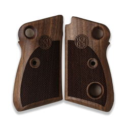 Beretta 71 72 75 Jaguar Grip (Crossbolt safety) Model Compatible Walnut Grip for Replacement, with Diamond Checkered Pattern